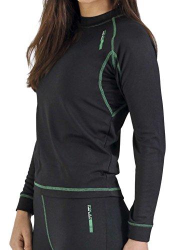 Camiseta térmica para mujer de manga larga, ideal para deportes de in