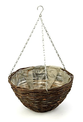 Apollo 16-inch Dark Willow Hanging Basket