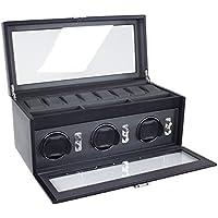 Dulwich Designs' Eclipse ' Classic in vera pelle orologio tripla, Executive nero con rivestimento interno grigio - A -glance Executive Desk