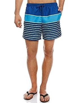 oodji Ultra Hombre Bermudas de Baño a Rayas
