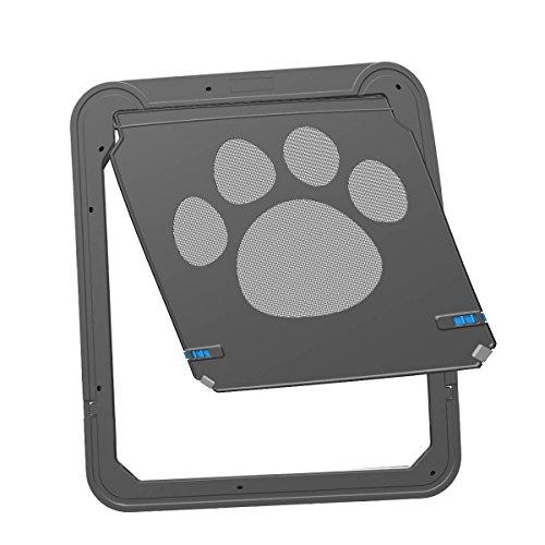morjava 201703dogdoor-l Hund Displayschutzfolie Tür Pet Cat Bildschirm Tür Schiebetür Automatisches Schloss