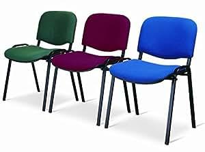 Sedia da ufficio poltrona fissa per sala attesa metallo e for Amazon sedie ufficio
