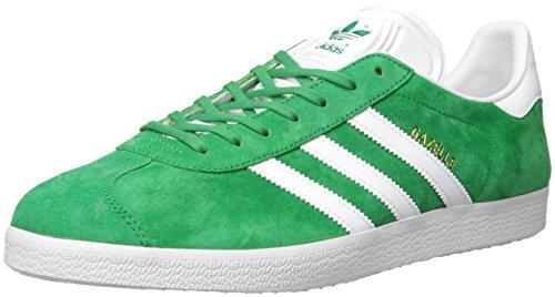 adidas Gazelle, Baskets Basses Mixte Adulte Green / White / Gold Met.