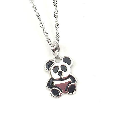 FANSING Bijoux Cadeau Critter Panda 925/1000 Argent Sterling 13*11mm Pendentif
