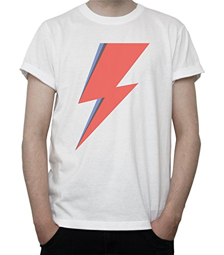 Ziggy Lightning Fan Art Graphic Mens T-Shirt Blanc