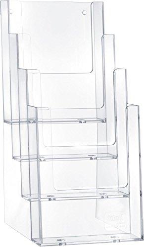 Helit H2352002 - Tischprospekthalter 'the helpdesk' 4 x 1/3 DIN A4, glasklar