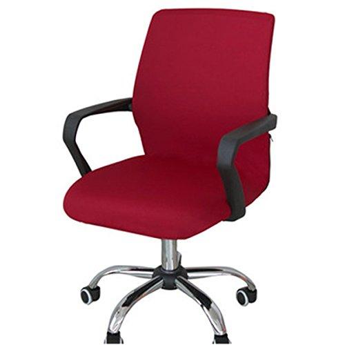 CAVEEN Stuhl Bezug Simplism Stil Abnehmbarer dehnbar CO Vers Universal Sessel-Bezug, Schonbezug für Büro, rot, Large