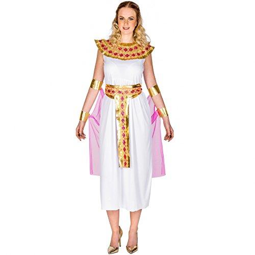 Kostüme Halloween 2017 Mädchen Mächtiger Ein (Frauenkostüm orientalische Prinzessin Amira | langes Kleid mit aufwendigem Kragen | traumhaftes Cape | Oberarm- und Unterarm-Stulpen (XXL | Nr.)