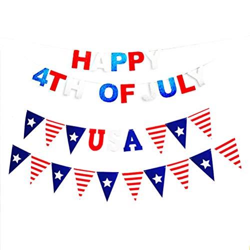 . Juli Banner American Patriotic Wimpel Banner Flagge Unabhängigkeitstag vierten Juli Party Dekoration ()