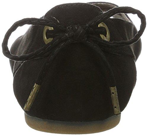 s.Oliver 29100, Ballerines  Bout Ouvert Femme Noir (BLACK 001)