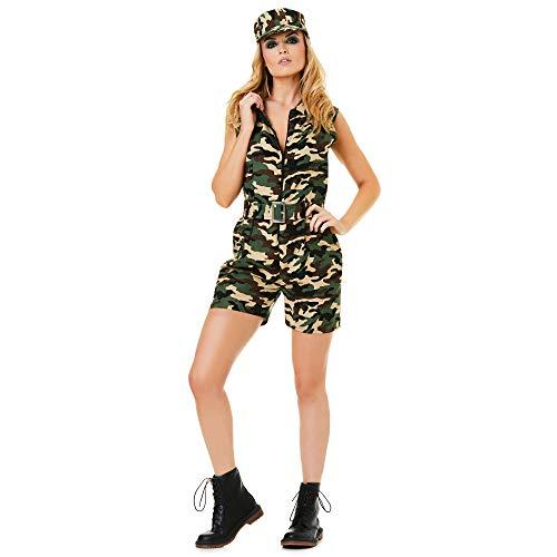 Karnival 81214Armee Camo Kostüm Mädchen, Frauen, grünen, - Camo Mädchen Kostüm