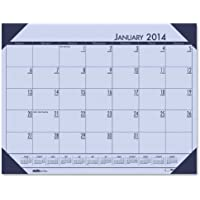 House of Doolittle EcoTone Orchid Desk Pad Calendar 22 x 17 Inches 12 Months January 2014 to December 2014 Recycled (HOD12473)
