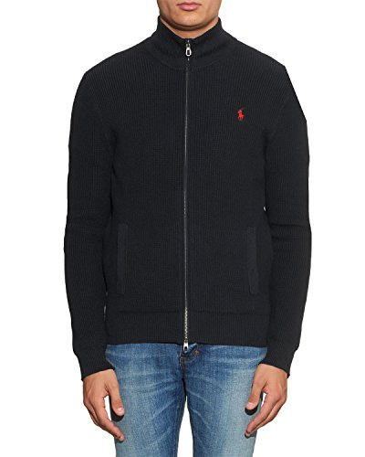 POLO by RALPH LAUREN - Herren Strickjacke - schwarz, M (Lauren Baumwoll Strickjacke)