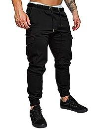 Minetom Herren Hose Chino Sommer Herbst Stretch Freizeithose Hosen Jogger  Cargo Pants Mode Casual mit Taschen d956c0f6b3