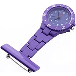 SAMGU High Quality Nurse Pocket Watch Quartz Plastic Watches Color Purple