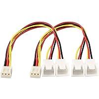 3P PC Y Cable divisor de ventilador - TOOGOO(R)2 piezas 3 pines