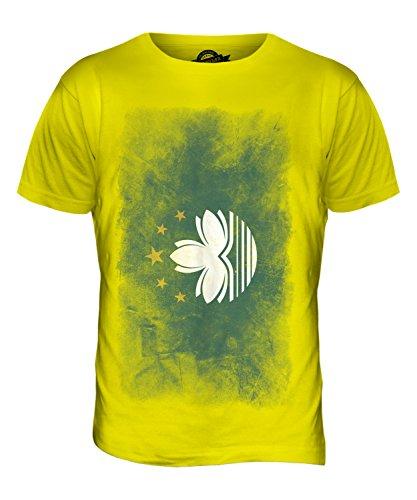 CandyMix Macau Verblichen Flagge Herren T Shirt Zitronengelb