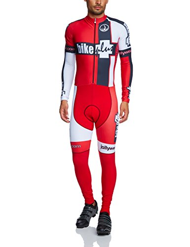 JOLLY WEAR RAD BODY LANGARM WINTER BIKE PLUS   CULOTE DE CICLISMO PARA HOMBRE  COLOR ROJO  TALLA XL