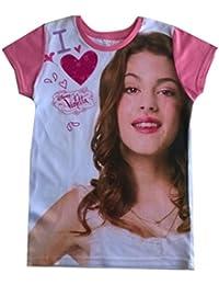 Violetta - Tee shirt Violetta rose coeur - 6 ans,9 ans