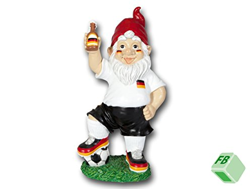 GARTENZWERG DEUTSCHLAND-FAN FUSSBALL HANDBALL HOCKEY VOLLEYBALL SPORTZWERG (34,5 cm)