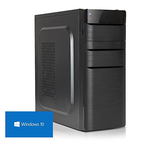 DEViLO PC 1149 | AMD A8-9600 Quadcore (Turbo bis 3.4GHz) + 6 Grafikkerne | 8GB DDR4-2133 | Radeon R7 Grafik | 1TB HDD (DVD-RW, HD-Sound, Gigabit-LAN) Windows 10 Computer