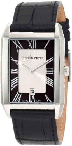 Pierre Petit Men's Quartz Watch Paris P-778A with Leather Strap