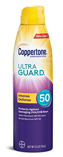 Coppertone ULTRA GUARD Sunscreen Continuous Spray SPF 50 (5.5-Ounce) -
