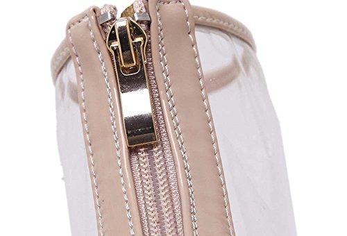 L&Y Sandali a righe per donne Sandali in cinghia Pattini Heels Pattini classici in vetro Pattini trasparenti Sandali con chiusura a spalla 35-40 EU Pulire