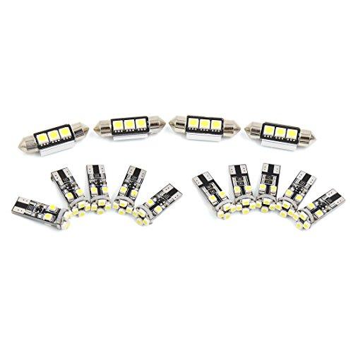 sourcingmap® 14x Blanc Intérieur voiture Kit Lumière LED Canbus sans erreur