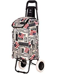 EverBest Foldable Shopping Trolley Bag (Flag Print)