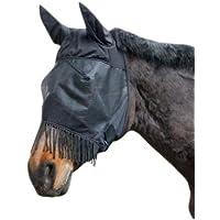 KERBL 321268  321268 Masque de protection anti-insectes avec protection des oreilles et franges naseaux pour pur-sang