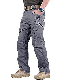 TACVASEN Táctico Militar Hombres Urbano Al Aire Libre Tramo Pantalones de Carga Gris