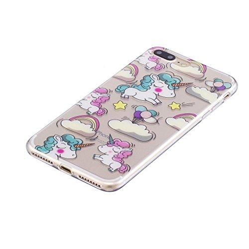 """Coque pour Apple iPhone 7 Plus , IJIA Transparent Adorable Koala TPU Doux Silicone Bumper Case Cover Shell Housse Etui pour Apple iPhone 7 Plus (5.5"""") WM111"""