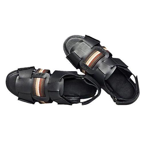 uomini SHANGXIAN nellestate Casual Spiaggia sandali infradito Black qx8xRaP