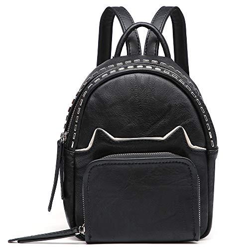Mini-Rucksack, Geldbörse für Damen, kleine Rucksack, Handtasche, niedliche Tasche, Rucksack schwarz