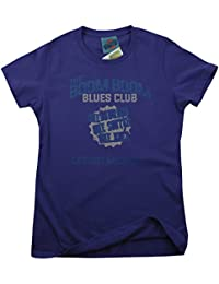 JOHN LEE HOOKER inspired BOOM BOOM BLUES CLUB, Mujeres Camiseta