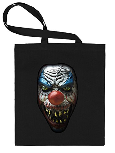 Golebros Halloween Killer Clown 5959 Süßigkeiten Bonbons Tasche Stoffbeutel Tragebeutel Beutel Kinder Schwarz