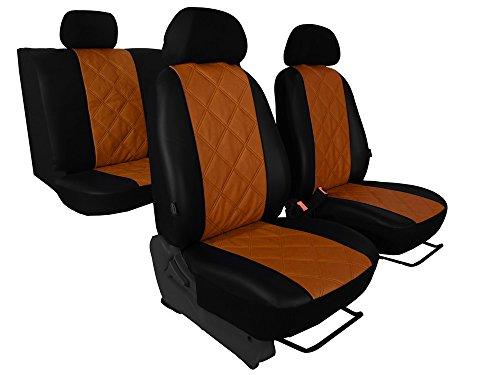 Preisvergleich Produktbild Autositzbezüge passend für BMW 5-serie (E34) - DESIGN ECO-LEDER DIAGONALGESTEPPT. In diesem Angebot BRAUN (In 4 Farben bei anderen Angeboten erhältlich)