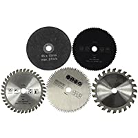 UKCOCO Hoja de sierra circular 5pcs HSS 85MM corte cruzado rebanadas herramienta rotativa de disco de corte