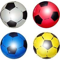 Caratteristiche del prodotto: Possibilità di gonfiare in diverse dimensioni a causa di alta qualità spessa e flessibile in gomma. '5PVC plastica-Pallone da calcio sgonfio Dimensioni: 21,6cm-Peso: 80grams di ciascuna sfera Ogni palla è...