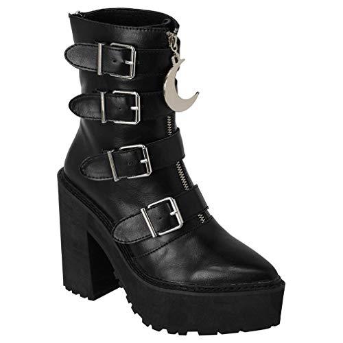 Killstar - Botas de Sintético para Mujer Negro Negro One Size, Color Negro, Talla 41 EU
