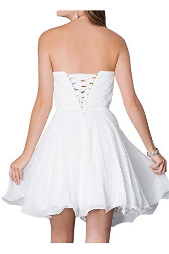 Milano Bride Damen Liebling Chiffon Herzform Kurze Abendkleid Heimkehrkleider Abschlusskleid Strass Pailette Gelb