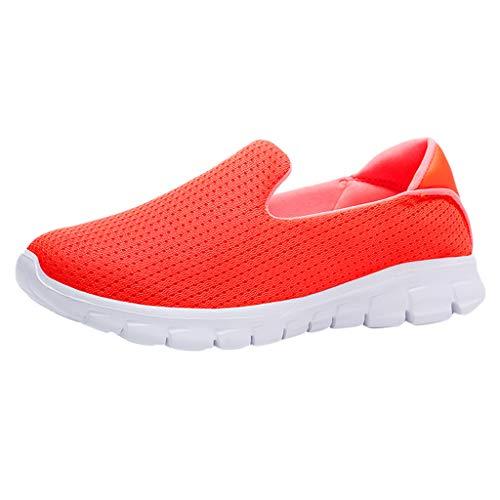 Womens gemütlich Fashion Casual Solid Sport atmungsaktiv leichte Slip On Schuhe Turnschuhe -