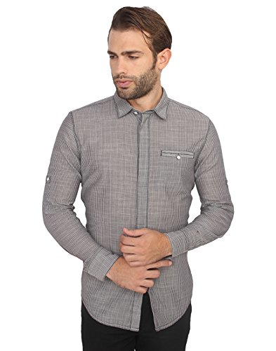 Calvin Klein Men's Grey Casual Shirt  available at amazon for Rs.3439