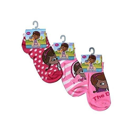Disney Doc McStuffins S?ckchen Girls Gr??e 4-6 (3 Pack)
