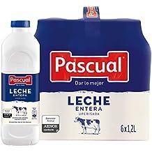 Pascual Leche Entera - Paquete de 6 x 1200 ml - Total: 7200 ml