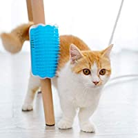 Pet Cat Dog Comb Brush Massage Device Self Groomer Hair Removal Brush Comb Toys