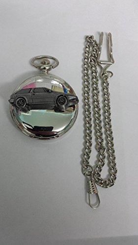 Volvo 480ref288Zinn Effekt Emblem Silber Poliert Fall Herren Geschenk Quarz Taschenuhr hergestellt in Sheffield