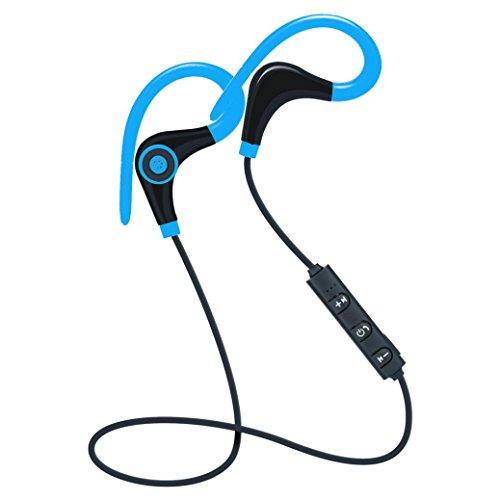 Cuffie wireless bluetooth, magiyard cuffie stereo senza fili cuffia del auricolare di bluetooth degli sport per il iphone blu blu 100cm