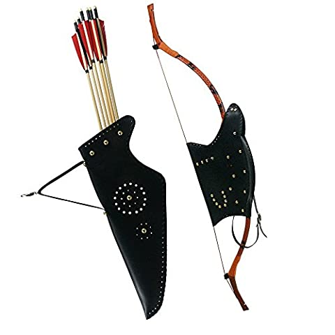 traditionnel Recurve Bow Sac étui et flèches de tir à l'arc Carquois support pour nœud extérieur Chasse Accessoires
